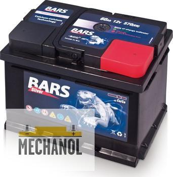 Autobaterie BARS 12V 60Ah 570A