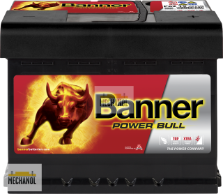 Autobaterie Banner Power Bull P62 19, 12V, 62Ah, 550A.