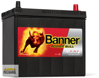 Autobaterie Banner Power Bull P45 23, 12V, 45Ah, 390A.