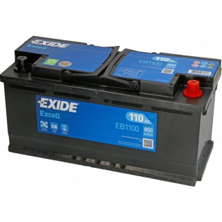 Autobaterie EXIDE Excell 110Ah 12V EB1100 850A